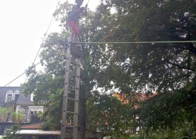 Sommer-Firmenfest: Balance auf der Leiter