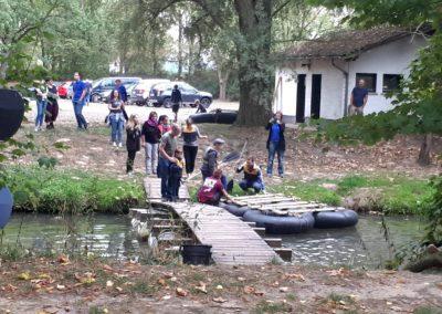 Sommer-Firmenfest: Floß zu Wasser
