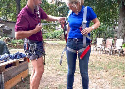 Sommer-Firmenfest: Klettersicherung