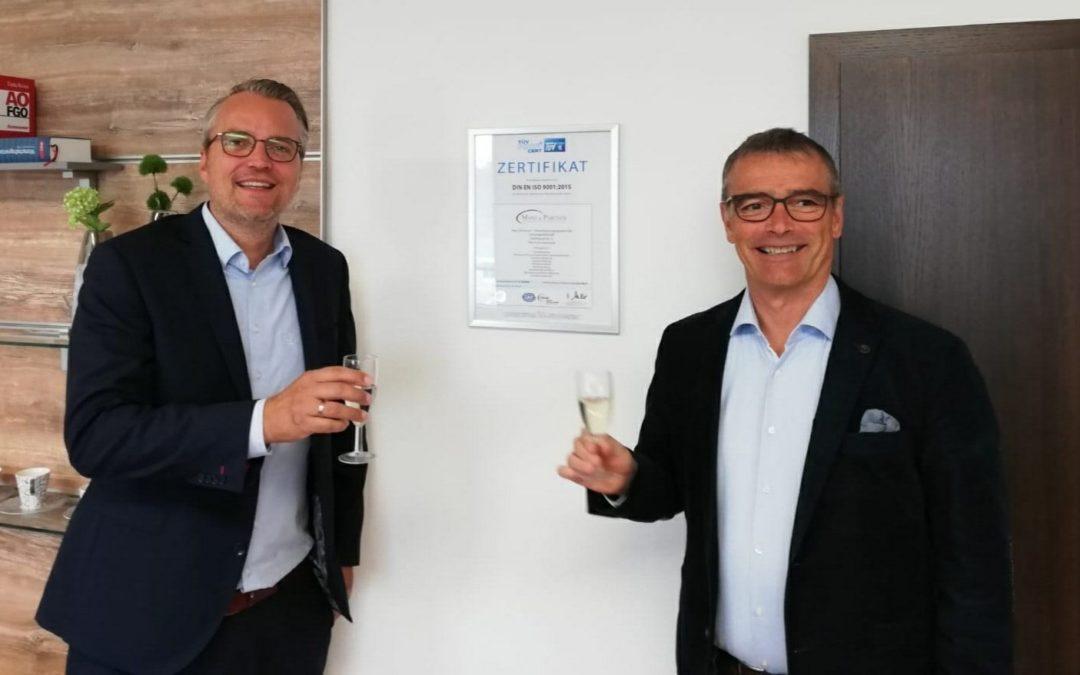 TÜV-Zertifizierung abgeschlossen